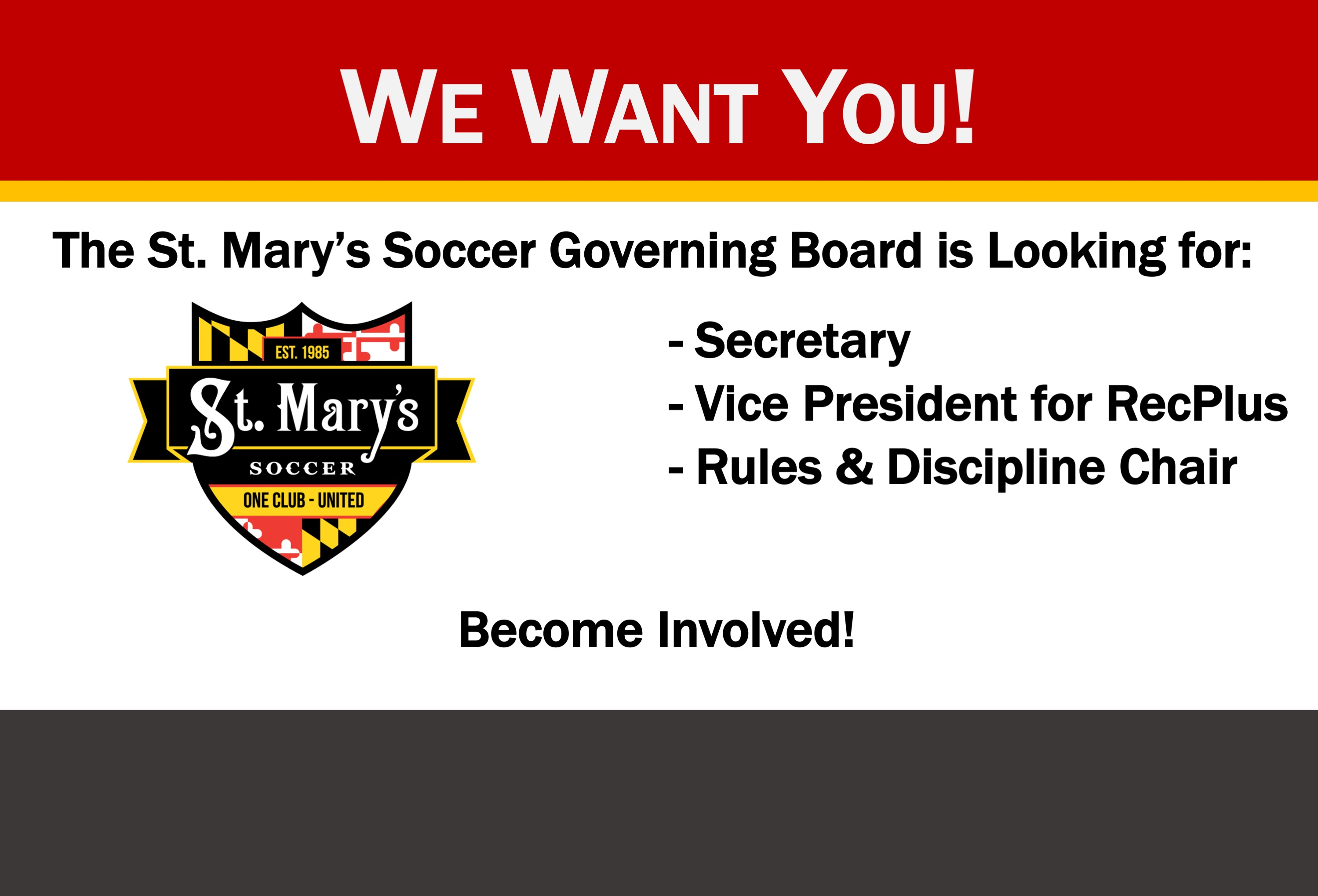 Come Volunteer with St. Mary's Soccer!